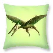 Pterodactyl, Cretaceous Dinosaur Throw Pillow