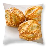 Puff With Chicken Mushrooms And Sesame Throw Pillow