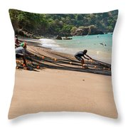 Pulling Seine Throw Pillow by Marion Galt