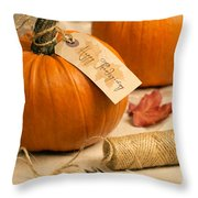 Pumpkins For Thanksgiving Throw Pillow