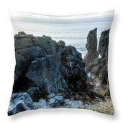 Punakaiki Pancake Rocks Throw Pillow