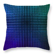 Purple And Green Lamps Throw Pillow