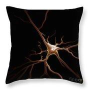 Pyramidal Neuron Throw Pillow
