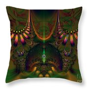 Quantum Dot Throw Pillow by Peter R Nicholls