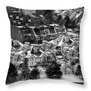 Queen City Winter Wonderland After The Storm Series 0028b Throw Pillow