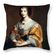 Queen Henrietta Maria Throw Pillow