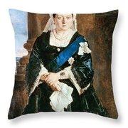 Queen Victoria Of England (1819-1901) Throw Pillow
