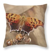 Question Mark Butterfly  Throw Pillow