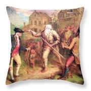 Quidor's The Return Of Rip Van Winkle Throw Pillow