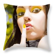 Quiet Whisper Throw Pillow