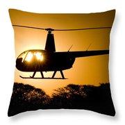 R44 Sunset Throw Pillow
