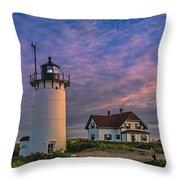 Race Point Lighthouse Sunset Throw Pillow