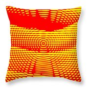 Radial Sunset Throw Pillow