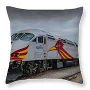 Rail Runner Locomotive Throw Pillow