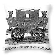 Railroad Passenger Car Throw Pillow