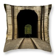 Railroad Tunnel 3 Bnsf 1 B Throw Pillow