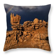 Rainbow And Sandstone Formations Fantasy Canyon Utah Throw Pillow
