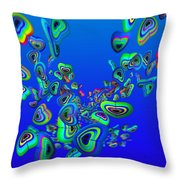 Rainbow Blue Throw Pillow