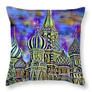 Rainbow Temple Throw Pillow