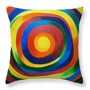 Rainbow Vertigo Throw Pillow