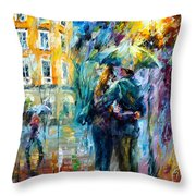 Rainy Date Throw Pillow