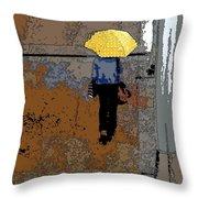 Rainy Days And Mondays Throw Pillow by David Bearden