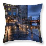 Ramble Along The River Throw Pillow