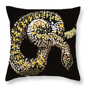 Rattlesnake Bedazzled Throw Pillow