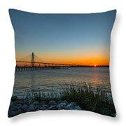 Charleston Sundown Throw Pillow
