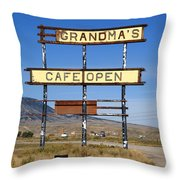 Rawlins Wyoming - Grandma's Cafe Throw Pillow