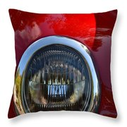 Red Classic Ford Throw Pillow