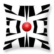 Red Ball 8 Throw Pillow