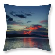 Red Clouds Throw Pillow