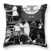 Red Cross, C1918 Throw Pillow