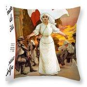 Red Cross Poster, 1915 Throw Pillow