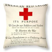 Red Cross Poster, 1917 Throw Pillow