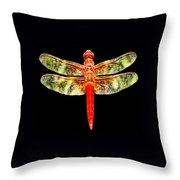 Red Dragonfly Small Throw Pillow