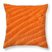 Red Dune Throw Pillow