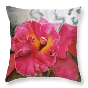 Red Glow Throw Pillow