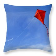 Red Kite In The Sky Throw Pillow