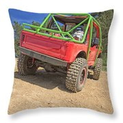 Red Off Road Car  Throw Pillow