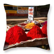 Red Powder Throw Pillow