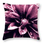Red Rain Throw Pillow