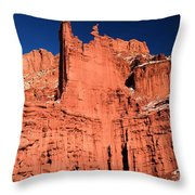 Red Rock Fisher Towers Throw Pillow