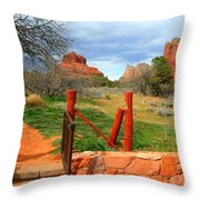 Enter Red Rock Country Throw Pillow
