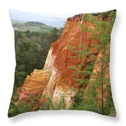 Red Rocks Of Roussillon  Throw Pillow