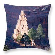 Red Rocks Open Space Throw Pillow