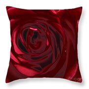 Red Rose Abstract 2 Throw Pillow