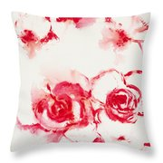 Red Rover I Throw Pillow
