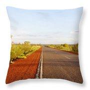 Red Soil Throw Pillow